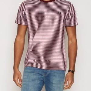 Fred Perry Fine Stripe T-shirt T-paita Rosewood