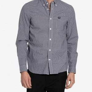 Fred Perry Gingham L/S Shirt Kauluspaita Black