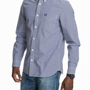 Fred Perry Gingham L/S Shirt Kauluspaita Blue