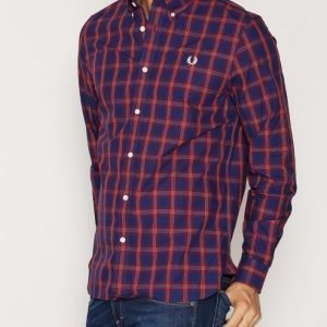 Fred Perry Gingham Mix Shirt Kauluspaita Navy