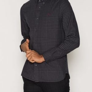 Fred Perry Gingham Twill Shirt Kauluspaita Graphite
