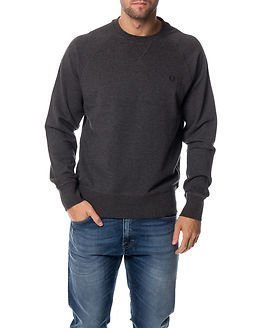 Fred Perry Loopback Crew Sweat Graphite Marl