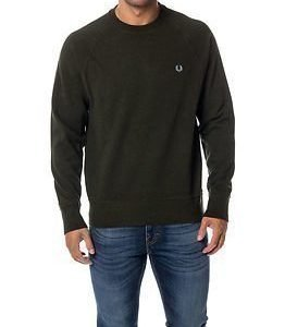 Fred Perry Loopback Crew Sweat Racing Green