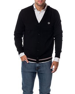 Fred Perry Merino Cardigan Black