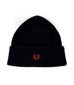 Fred Perry Merino Wool Beanie Navy Marl