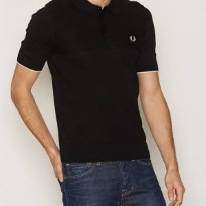 Fred Perry Mix Knitted Shirt Pikeepaita Black