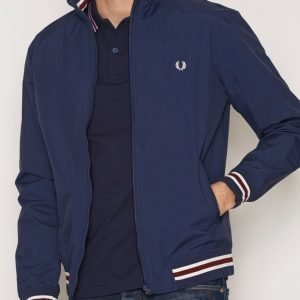 Fred Perry Neck Tipped Bomber Takki Carbon Blue