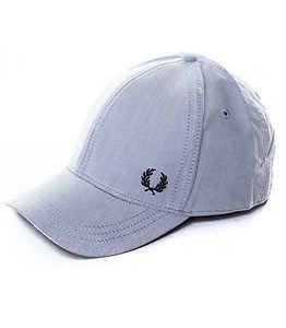 Fred Perry Oxford Baseball Cap Light Smoke