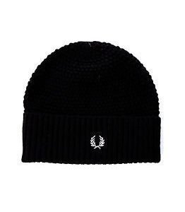 Fred Perry Pique Beanie Black