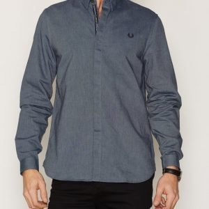 Fred Perry Placket Oxford Shirt Kauluspaita Carbon