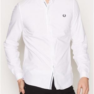 Fred Perry Placket Oxford Shirt Kauluspaita White
