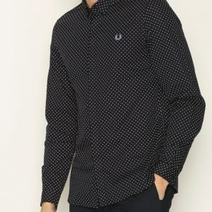 Fred Perry Polka Dot Shirt Kauluspaita Navy