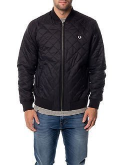 Fred Perry Quilted Bomber Jacket Black
