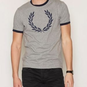 Fred Perry Ringer T-Shirt T-paita Steel