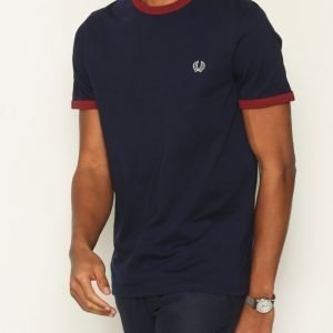 Fred Perry Ringer T-shirt T-paita Carbon Blue