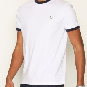 Fred Perry Ringer T-shirt T-paita White