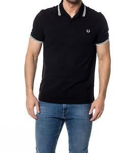 Fred Perry Slim Fit Fred Perry Shirt Black/Porce