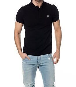 Fred Perry Slim Fit Twin Tipped Shirt Black/Chrome