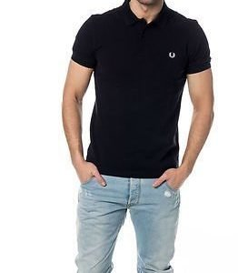 Fred Perry Slim Fit Twin Tipped Shirt Navy