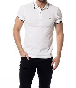 Fred Perry Slim Fit Twin Tipped Shirt White/French Navy