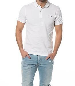 Fred Perry Slim Fit Twin Tipped Shirt White/Navy