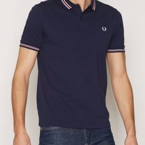 Fred Perry Stripe Pique Shirt Pikeepaita Carbon Blue