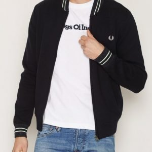 Fred Perry Stripe Zip Thru Pusero Navy