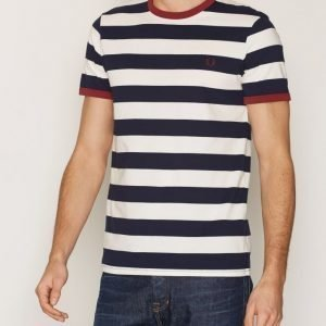 Fred Perry Striped T-shirt T-paita Carbon Blue