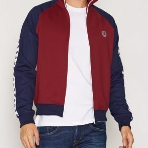Fred Perry Tape Track Jacket Pusero Maroon