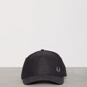 Fred Perry Textured Baseball Cap Lippis Charcoal