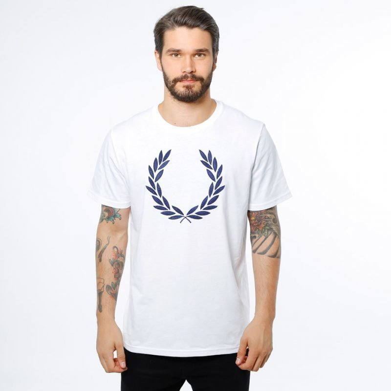 Fred Perry Textured Laurel -t-paita