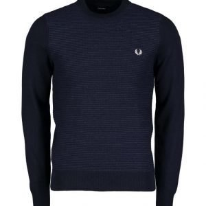 Fred Perry Textured Stripe Crew Neck Neule