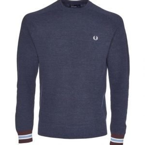 Fred Perry Textured Yarn Pique Crew Neck Neule