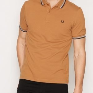 Fred Perry Twin Tipped FP Shirt Pikeepaita Caramel