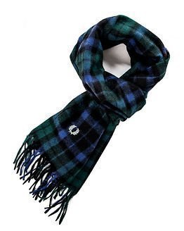 Fred Perry Watch Tartan Scarf Ivy