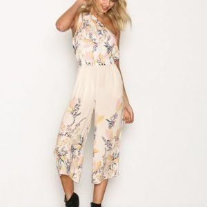 Free People Island Time One Piece Jumpsuit Pink