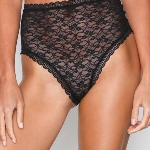 Free People Lace Dreams High Waisted Brazilian Alushousut Musta
