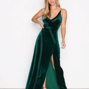 Free People Spliced Velvet Maxi Maksimekko Green