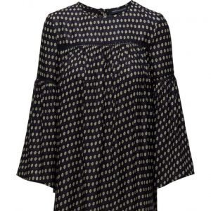French Connection Bacongo Dot Fluted Sleeve Top tunikka