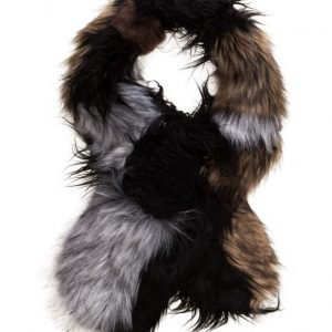 French Connection Fur Patchwork Maxina Stole huivi