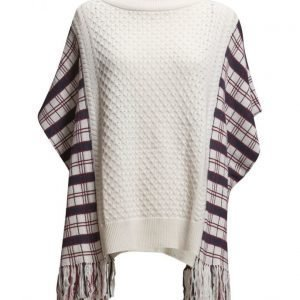 French Connection Hatty Tartan Knits Poncho