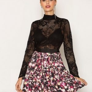 French Connection Midnight Bloom Ottoman Skirt Minihame Black