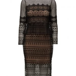 French Connection Petra Lace Beau Ls Midi Dress mekko