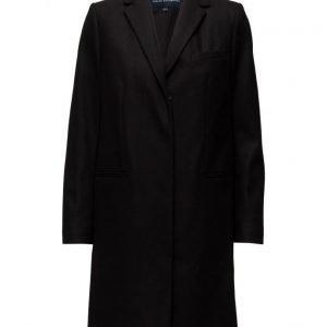 French Connection Platform Felt Ls Classic Coat villakangastakki