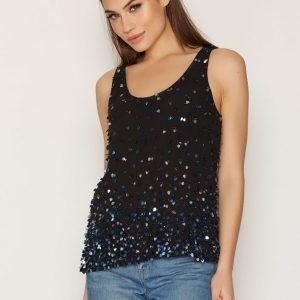 French Connection Sedgwick Sparkle Top Toppi Nocturnal / Black