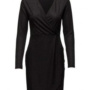 French Connection Snake Jacquard Ls Wrap Dress mekko
