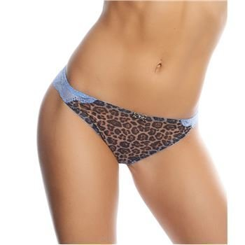 Freya Minx Thong Blue Leopard