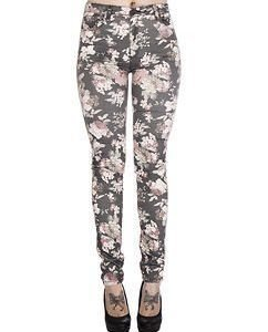 Frieda Floral Jeans Grey