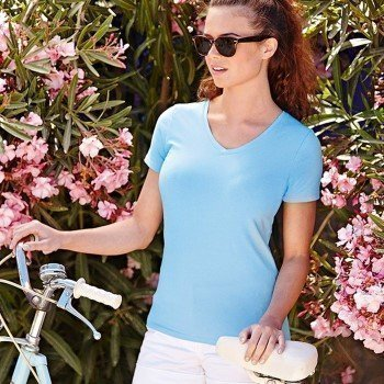 Fruit of the Loom Lady-Fit V-Neck T