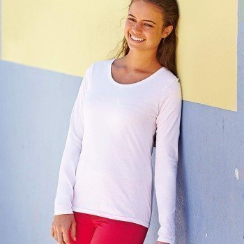 Fruit of the Loom Lady Fit Valueweight Long Sleeve